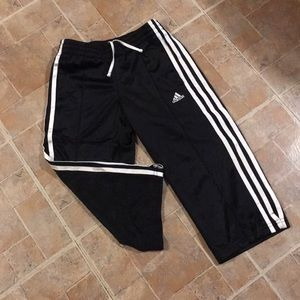 Adidas cropped athletic pants size kids girls MD